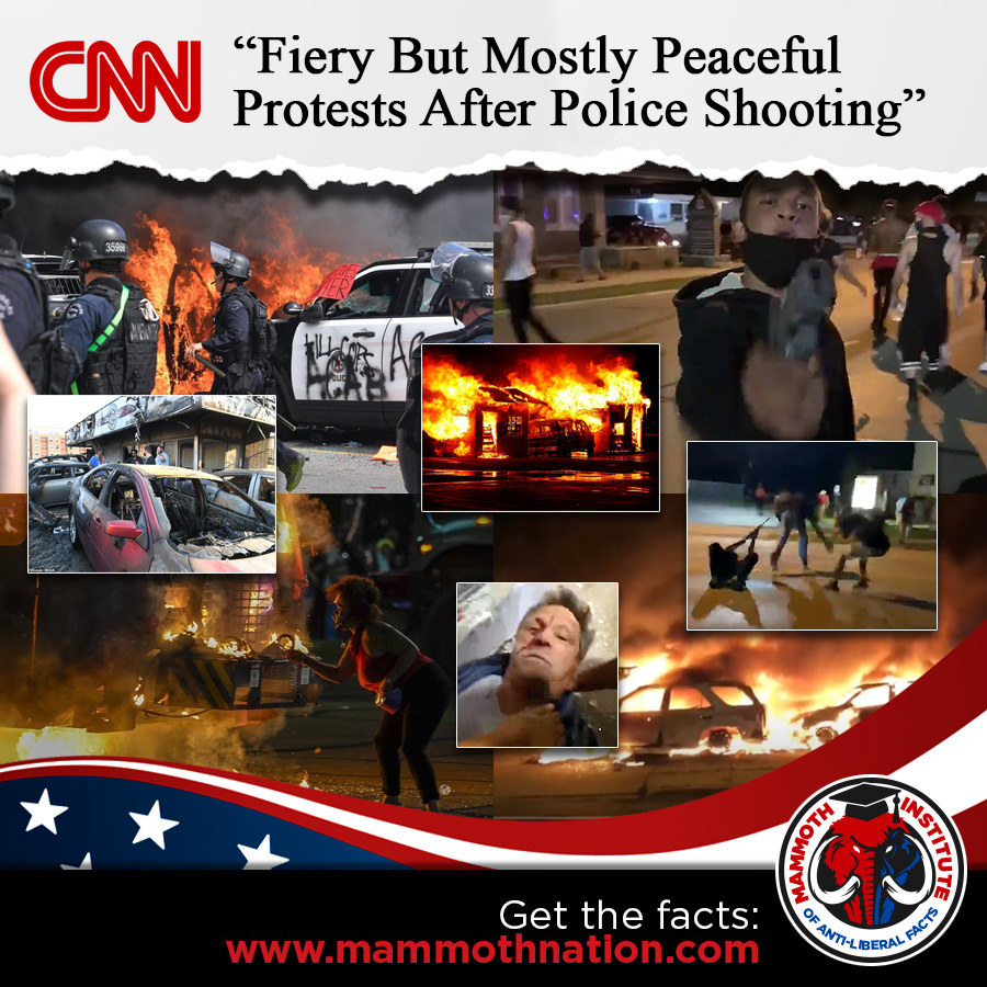 CNN- Mostly Peaceful protest