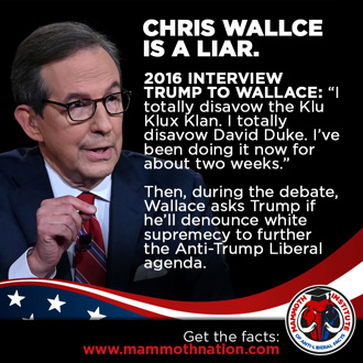 Chris Wallace is a Liar