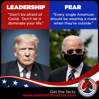Leadership with trump vs Fear with Biden