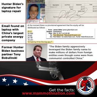 Hunter's Laptop Email & China