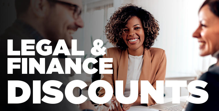 Legal and Finance Discounts